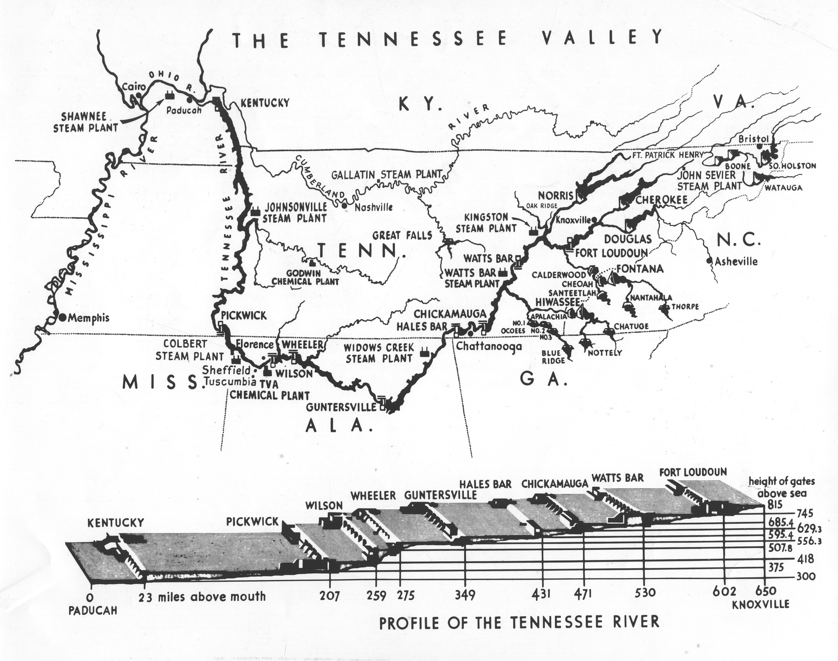 Tennessee State Library And Archives Photograph And Image Search - Tn river map